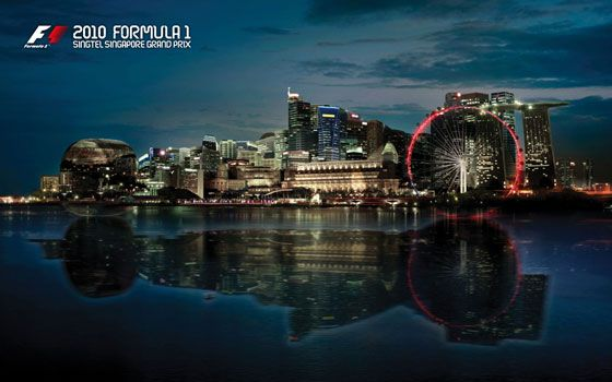 2010 Formula 1 Singtel Singapore Grand Prix Folder